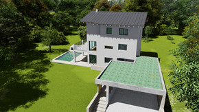 Einfamilienhaus im Wienerwald: Entwurfs-, Einreichplanung und 3D-Visualisierung