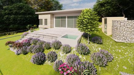 Badehütte beim Neufeldersee - Entwurf - 3D Visualisierung - Einreichplan