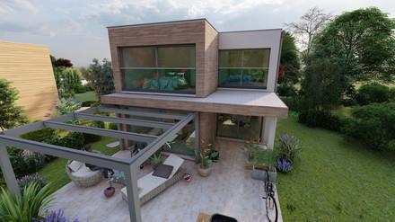 Entwicklung Kleingartenwohnhaus - Fassadengestaltung - optimierte Raumgestaltung - 7 cm Regel